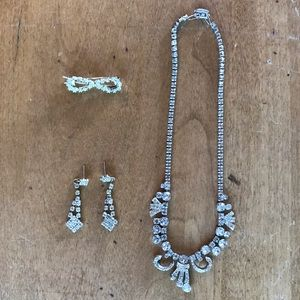 Necklace, Earrings & Barrette bundle
